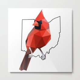 Ohio – Northern Cardinal Metal Print