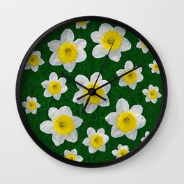 Spring Daffodils Wall Clock
