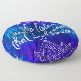 To the stars who listen - ACOMAF inspired Floor Pillow