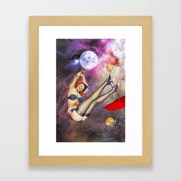 Swingin' on a star Framed Art Print