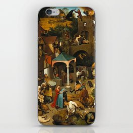 Pieter Bruegel the Elder Netherlandish Proverbs Painting iPhone Skin