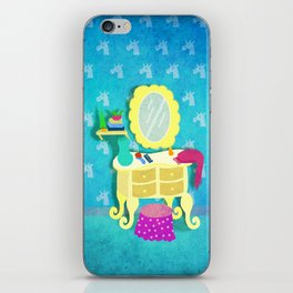 I saw a shadow of a unicorn in my room. iPhone Skin