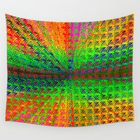 psychedelic Wall Tapestries featuring Psychedelic by Debbie Clayton