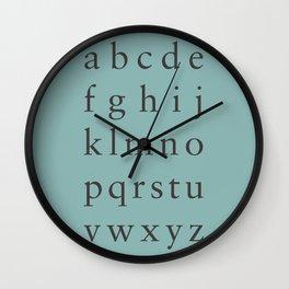 Sabon - Lowercase Wall Clock