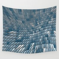 pyramid Wall Tapestries featuring Pyramid Wave by Nick Bizzack Designs