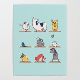 Vegan Yoga Poster