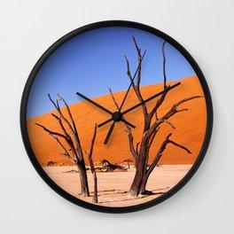 Dead Vlei Namibia VII Wall Clock