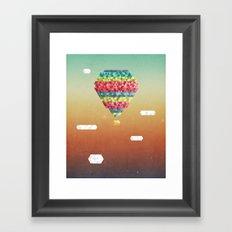 Triangular Skies Framed Art Print