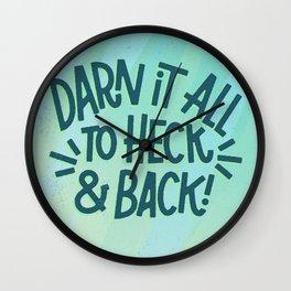 Darn It All Wall Clock