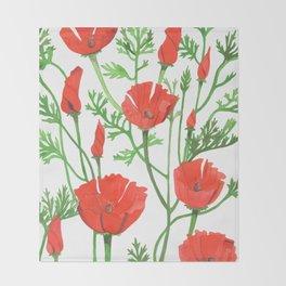 Poppies Throw Blanket