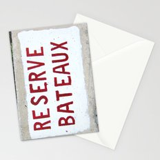 Reserve Bateaux, Côte d'Azur, French Riviera Stationery Cards