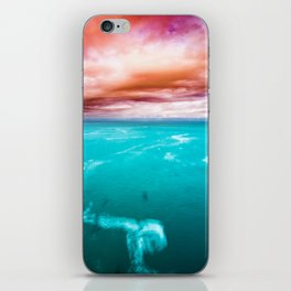 Fire and Water Sea iPhone Skin