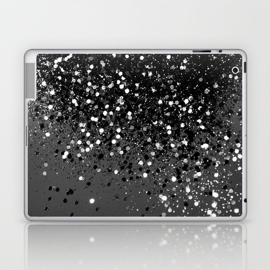 Dark Gray Black Lady Glitter #1 #shiny #decor #art #society6 by anitabellajantz