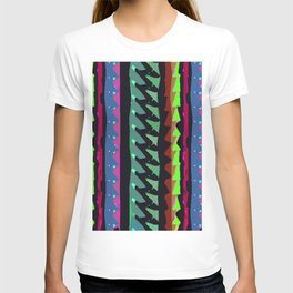 TROPICAL THUNDER 1980'S iNSPIRED MULTICOLOR PRINT T-shirt
