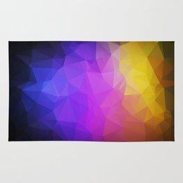 Abstract polygonal print, stylish geometry Rug