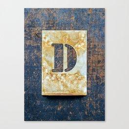 Letter D Canvas Print