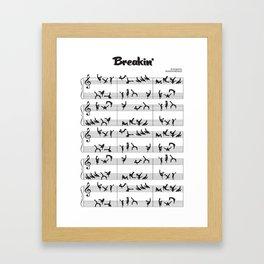 Breakin Framed Art Print