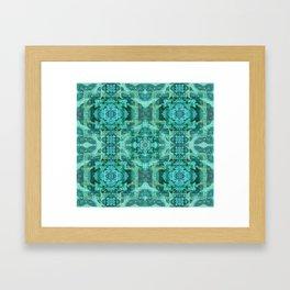 Tibetan Boho Mandala Framed Art Print