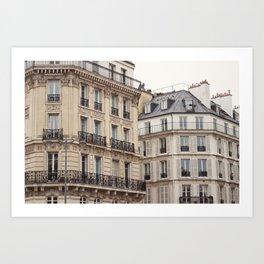 Paris classic facades Art Print