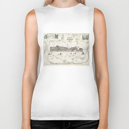 Vintage Map of The White Mountains (1871) Biker Tank