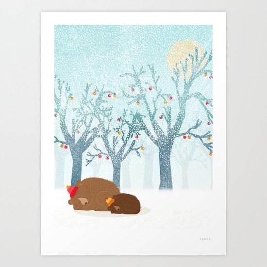 Sleeping winter Art Print