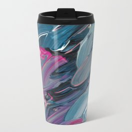 Blue Flurry Travel Mug
