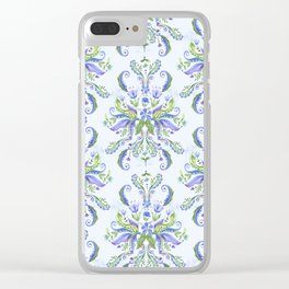 Blue Medallion Clear iPhone Case