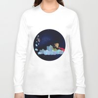 swimming Long Sleeve T-shirts featuring swimming by HanadaCreations