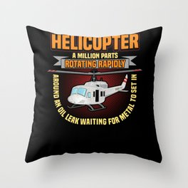 Pilot Aircraft Flight Plane Helicopter Airport Throw Pillow