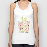 gift card Tank Tops featuring Christmas Gift 02 by BlueLela