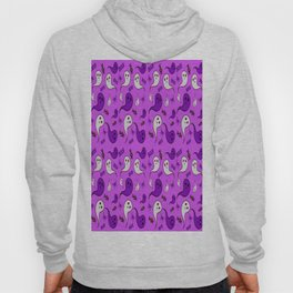Purple ghosts for halloween. Hoody
