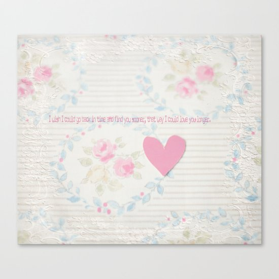 Go Back In Time Valentines  Canvas Print