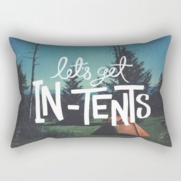 Let's Get In-Tents Rectangular Pillow