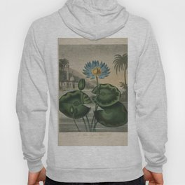 Temple of Flora Blue Egyptian Water Lily Hoody