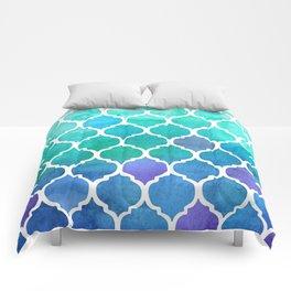Emerald & Blue Marrakech Meander Comforters