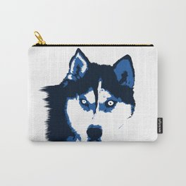 Blue Husky  Carry-All Pouch