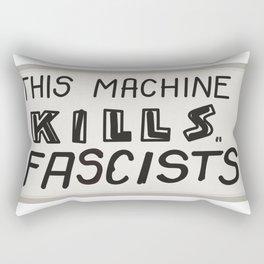 This machine kills fascists Rectangular Pillow