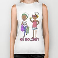 holiday Biker Tanks featuring Holiday by Coily and Cute