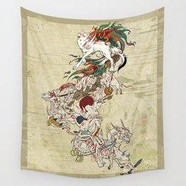 Okami Celestial parade Wall Tapestry