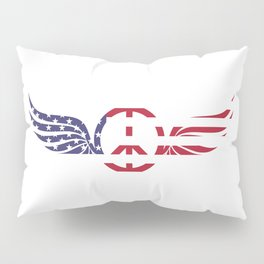 Peace in American Flag Pillow Sham