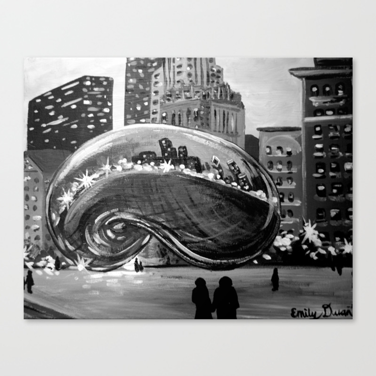 Chicago Bean Painting Canvas Print