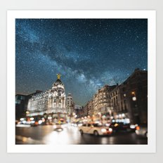 Madrid at night Art Print