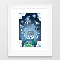 video games Framed Art Prints featuring Classic Video Games by Scott Hallett