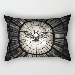 The Holy Spirit as a dove Rectangular Pillow
