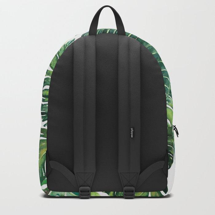 Jungle Leaves, Banana, Monstera #society6 Backpack