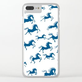 horses in a dream Clear iPhone Case