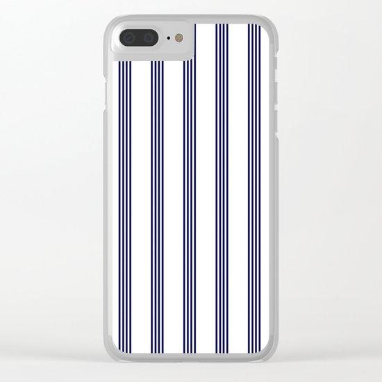 Blue- White- Stripe - Stripes - Marine - Maritime - Navy - Sea - Beach - Summer - Sailor Clear iPhone Case
