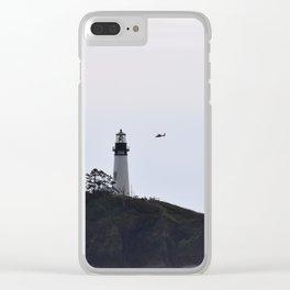 Yaquina Head/ Coast Guard Clear iPhone Case