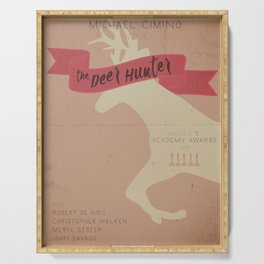 The Deer Hunter, Minimal movie poster, Michael Cimino film, alternative, Christopher Walken, De Niro Serving Tray