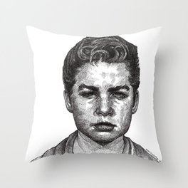 Little Jimmy Finkle Leader of the Gumball Gang Throw Pillow